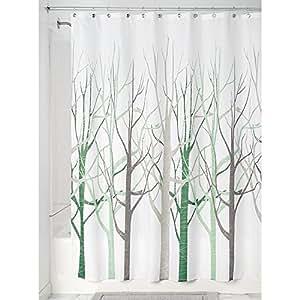 Interdesign forest cortina de ba o de dise o cortina de - Cortinas para banera ...