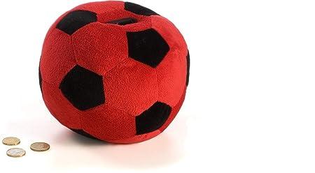 Junior star Hucha balón de Peluche-Rosso/Negro Milan, Rojo y Negro ...