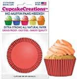 Cupcake Creations, No Muffin Pan Required Baking Cups, Coral, 9148