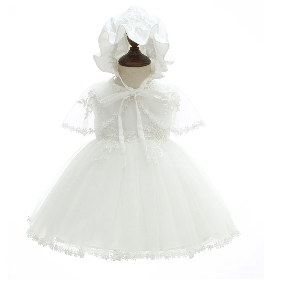 Moon Kitty Baby Girl Christening Dress 3Pcs New Born Soft Party Gowns Baptism