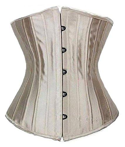 Bslingerie® Mujer Slimming 28huesos deshuesada de acero cintura Cinchers Beige