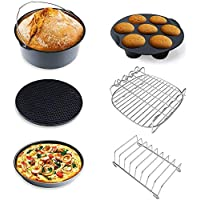 XL Air Fryer Accessories for Gowise Philips Cozyna, Set of 6, Fit for All 4.5QT, 5.3QT-5.8QT Airfryer(6 pack 8 inch)