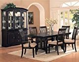 7pc Cappuccino Finish w/Birch Veneers Dining Table & Chairs Set