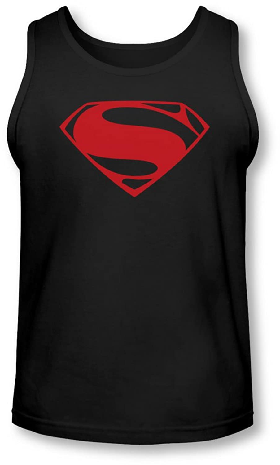 Man Of Steel - Mens Red Glyph Tank-Top