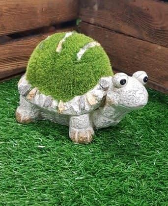 Con adorno de jardín Tommy la tortuga medio jardín decoración accesorios nuevo: Amazon.es: Jardín