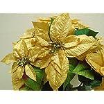 Gold-Christmas-Poinsettia-Bush-Artificial-Silk-Flowers-23-Bouquet-7-8801GD
