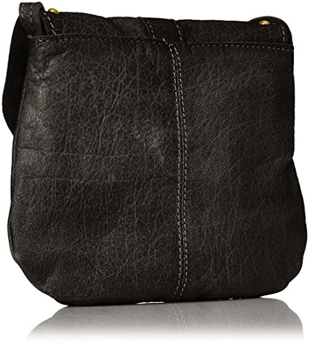 PIECES Damen Pcnadeen Leather Cross Body Umhängetasche, 5x21x26 cm Schwarz (Black)