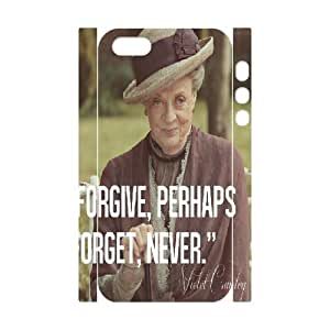 3D Yearinspace Downton Abbey Quotes Forgive Forget For HTC One M8 Phone Case Cover Protector With Design, Cute For HTC One M8 Phone Case Cover Teen Girls Hardshell For Girls With White