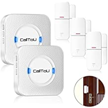 CallToU Wireless Door Open Chime Sensor Entrance Chime Entry Alert For Home Retail Store Business shop Apartment Office 3 Magnet Door Window sensors 2 Receivers