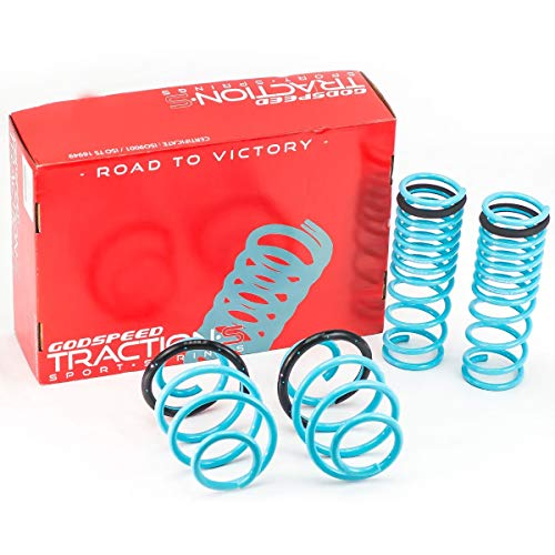Godspeed LS-TS-HA-0005 Traction-S Performance Lowering Springs, Reduce Body Roll, Improved Handling, Set of 4