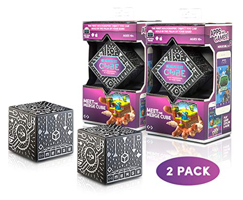 MERGE Cube (2 Pack) - Fun & Educational Augmented Reality STEM Toy for Kids, Learn Science, Math, and More