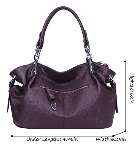 89462d2737aa4 Heshe Womens Leather Handbags Ladies Designer Purse Tote Bag Top Handle Bag  Hobo Bag Shoulder Bag