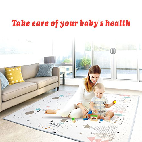 Play mat baby Care Play Mat Foam Floor Gym Slip Reversible Waterproof Portable double sides Kids Play Mat Baby Toddler Outdoor or Indoor UseDeer, 59x70x0.8in