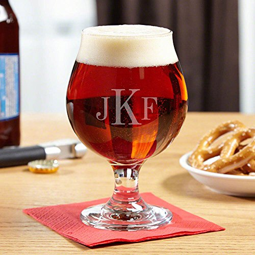Classic Monogrammed Snifter Beer Glass (Personalized Product)