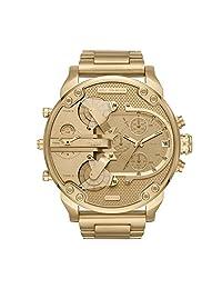 Diesel Men's Mr. Daddy DZ7399 Gold Brass Plated Stainless-Steel Quartz Fashion Watch