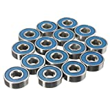 SODIAL(R) 20 x Frictionless ABEC 9 Wheel Bearings for skateboard