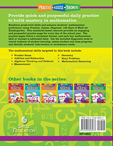 Amazon.com: 180 Days of Math for Kindergarten (180 Days of ...