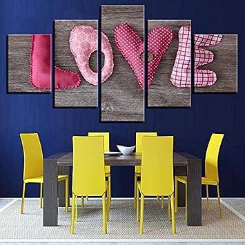 Lsweia Cadre En Bois Peinture Et Toile Imprime Mur Art 5