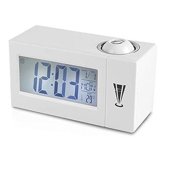 Zichen Reloj despertador de proyección, pantalla LCD Relojes ...