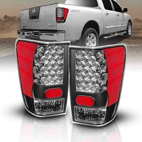 AmeriLite Black LED Tail Lights for TitanPassenger and Driver Side