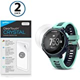 Garmin Forerunner 735XT Screen Protector, BoxWave® [ClearTouch Crystal (2-Pack)] HD Film Skin - Shields From Scratches for Garmin Forerunner 735XT