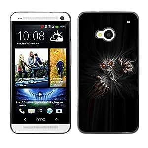 TECHCASE**Cubierta de la caja de protección la piel dura para el ** HTC One M7 ** Monster Ghost Devil Red Eyes Hell Horror