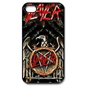 CTSLR Band Slayer Hard Case Cover Skin for Apple iPhone 4/4s- 1 Pack - Black/White - 1