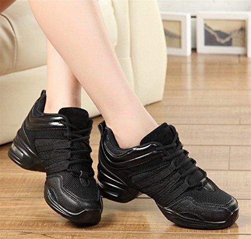 34 Chaussures Femmes Chaussures Souple Chaussures De noir Fitness Moderne WX De Sport Danse Chaussures 41 Danse XW Carrée Danse Soulèvement Base CYxfwYqU