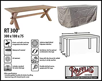 Amazon De Raffles Covers Rt300 Gartentisch Schutzhulle 300 X 100 Cm