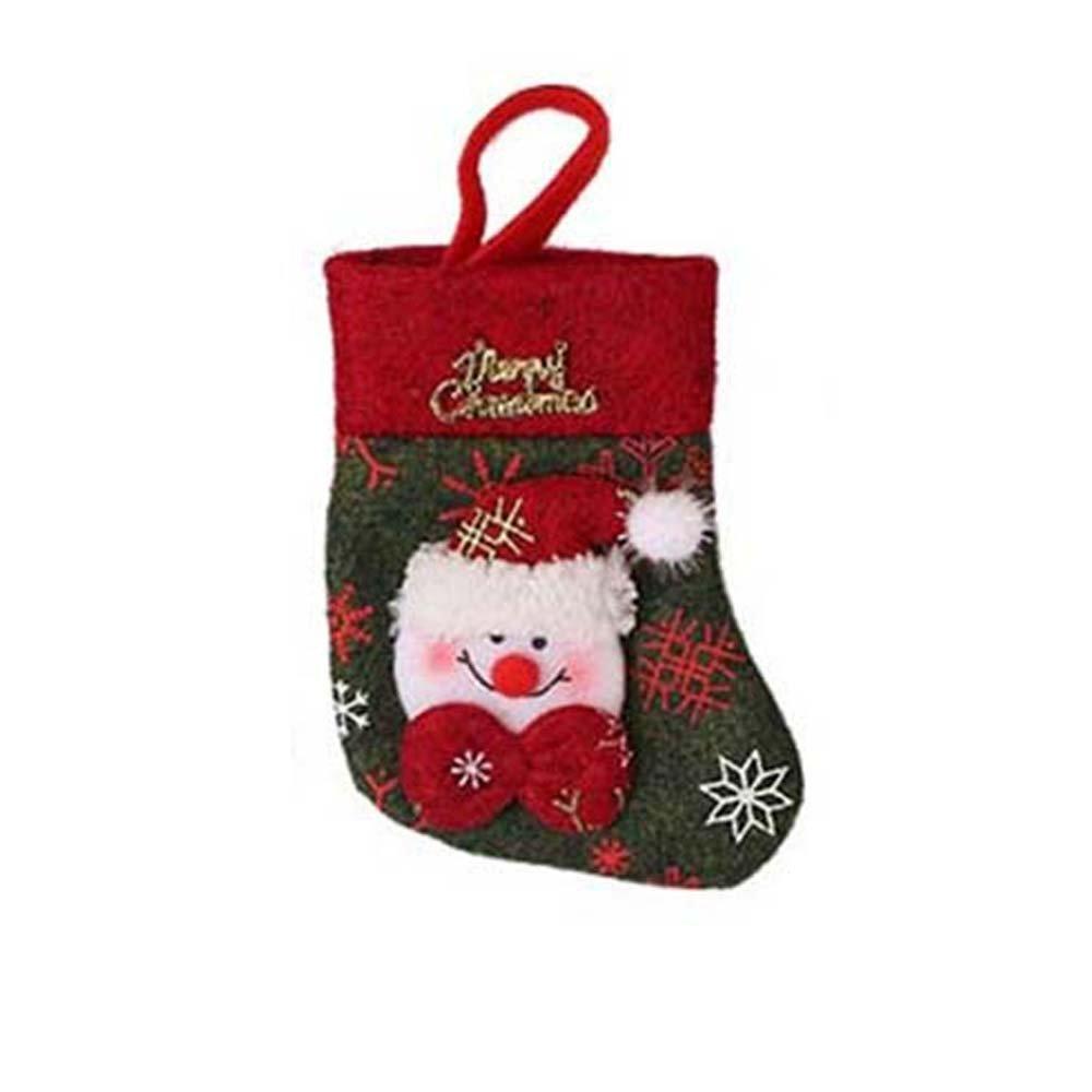 Joopee Christmas Stockings Creative Desktop Decoration Party Fork Set Storage Christmas Bag(Red C)