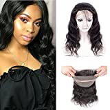 (US) 360 Lace Frontal Closure With Baby Hair Brazilian Body Wave Virgin Remy Human Hair 360 Frontal Lace Closure Free Part Natural Color (10 inch)