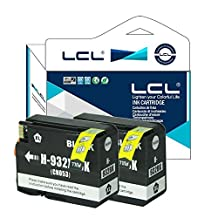 LCL Compatible for HP 932XL (2-Pack Black) Ink Cartridge for HP Officejet 6100/6600/6700/7110/7610/7612/7510/7512