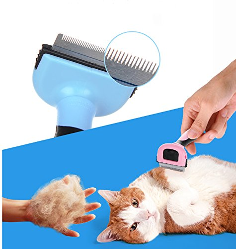 Pet Grooming Tool & Pet Grooming Brush- For Small, Medium & Large Dogs + Cats, With Short to Long Hair. Dog and Cat Brush For Shedding, Ideal Deshedding Tool, Veterinary Approved- by Speed-JS by Speed-JS (Image #2)