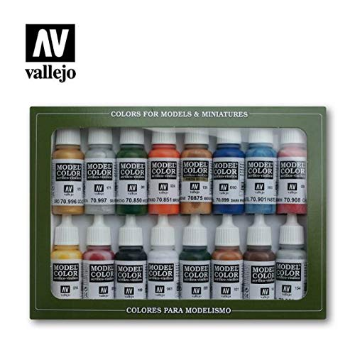 Model Color Paint Set - Folkstone Basic Colors from Acrylicos Vallejo