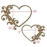 Heart Flourish Frame Set 1 - Laser Cut Chipboard