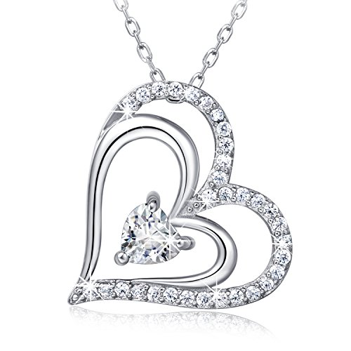 925 Sterling Silver Heart Neck