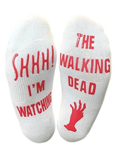 Shhh Im Watching The Walking Dead  Funny Socks
