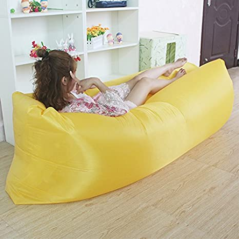 Dormir hinchable Bag hangout Air Sofás camping Saco de dormir playa sofá Tumbona Cama Banana vago bolsillos con bolsillo lateral vago funda laybag 10 ...