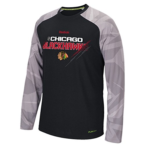 Chicago Blackhawks Reebok NHL 2015 Center Ice TNT Long Sleeve Performance Shirt