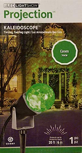 Gemmy Lightshow Projection Kaleidoscope Outdoor Yard Stake Holiday Decoration - Green]()