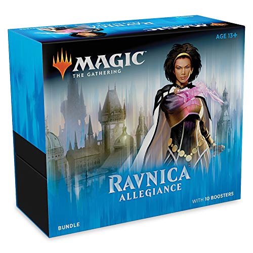 Magic: The Gathering Ravnica Allegiance Bundle | 10 Booster Packs + Land Cards (230 Cards) | Accessories