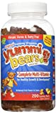 Yummi Bears Multi Vitamin & Mineral Gummies – Fruit Flavor – 200 ct For Sale