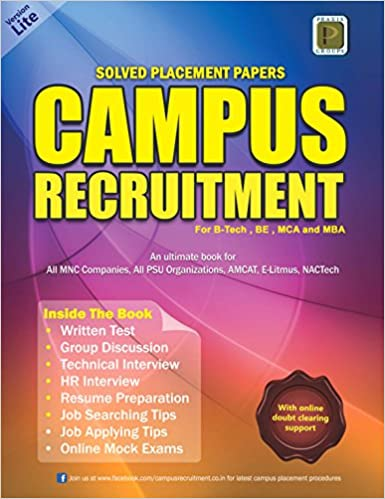 Buy Solved Placement Papers Campus Recruitment (Version Lite 2019