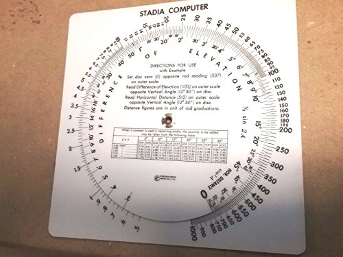 Slide Rule Scales - New Stadia Circular Slide Rule - USa