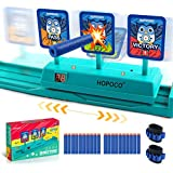 HOPOCO Moving Electronic Digital Target for Nerf Guns, Auto-Reset Intelligent Light Sound Effect Scoring Target for Nerf…