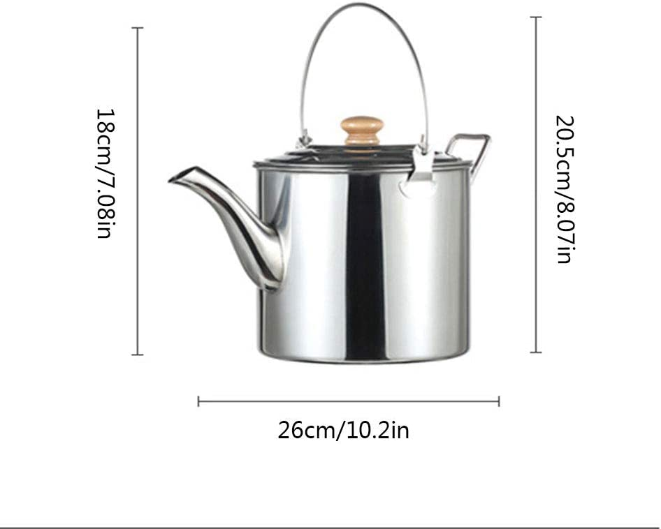 LXB Caldera de Acampar Exterior de Acero Inoxidable de 3 litros, Asas con extensión de asa y Tapa y Mochila portátil de Doble Uso para picnics de Senderismo.