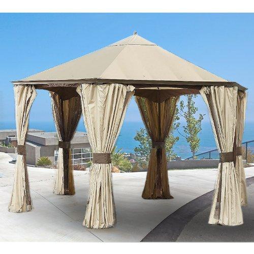 Garden Winds Replacement Canopy For Garden Oasis Hexagon Gazebo Riplock 350 Ebay