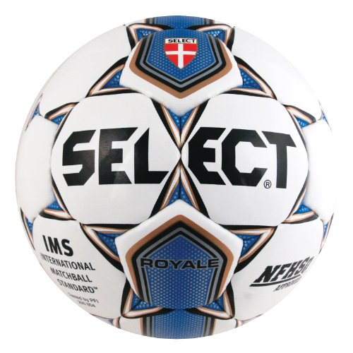 Select Sport America Royale Soccer Ball  5  White Royal Blue