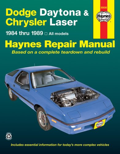 Laser Shop Manual (Dodge Daytona & Chrysler Laser 1984-1989 All Models (Haynes Manuals) (Haynes Repair Manuals))
