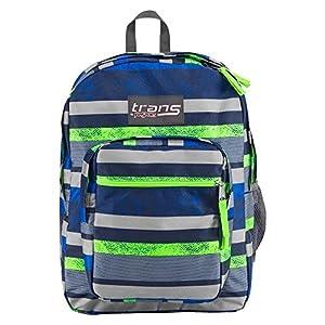 JanSport Unisex Supermax Navy Moonshine/Orange Backpack